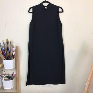 Zara Long Black Top With Side Slips